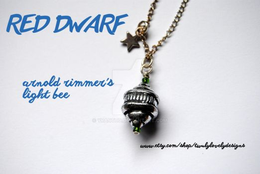 BBC Red Dwarf Arnold Rimmer Light Bee Necklace by yrantho