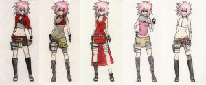 sakura outfits by Stray-Ink92