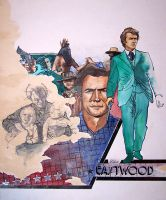 Clint Eastwood sketch poster by JohnHaunLE