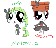 Meloetta Pirouette And Aria ppg by jiaqian02