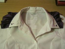 Finished Result - Frilly Blouse Collar by HowlerTheEvilKitten1