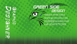 Green side business card by Theresa42J