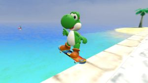 Noseslide Yoshi by ZeFrenchM