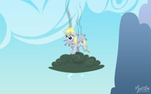 Derpy on a Cloud by mysticalpha