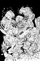 Megatron Origins 2 cover ink by MarceloMatere
