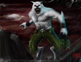 Ice Wolf by MarkMarvida