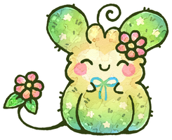 Starry Cactus Fluffbit by Louivi
