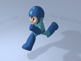 Megaman in 3D with Blender by game-flea