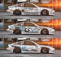 Drift Car Sticker Trials by wegabond