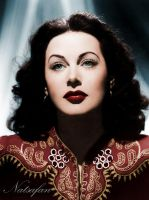 Hedy Lamarr 1940s ~ colored photo by natsafan