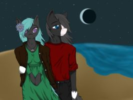 Night Charm and ShootingStar by Luska by Little-shewolf9