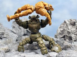 3d printed robots fighting by hauke3000