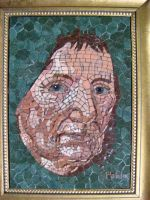 WOMANS FACE by paulbullmosaics