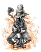 The Shy Black Mage by LittleSakis-Aubade