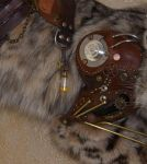 Steampunk Bobcat Detail Leg by Phoenix-Cry