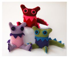 Baby Monsters Group by treesofmachinery