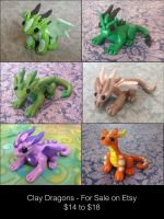 *For Sale* Clay Dragons by ForestGlade