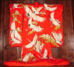 Red Kimono with White Cranes by FantasyStock
