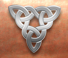 Celtic Silver Triangle on Copper by Robohippyv2