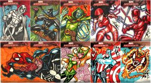 Marvel Artist Proof Cards by skulljammer