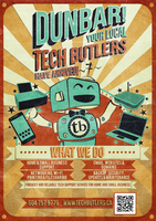 Tech Butlers Poster by RicGrayDesign