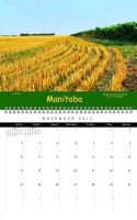 Manitoba Canada Calendar November by Joe-Lynn-Design