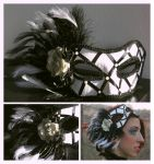 Black and White Masquerade Mask by ladyhawk21
