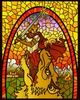Martin's Bane, Redwall Stained Glass Design by YasminFoster