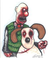 Wallace and Gromit by Papierschnitt