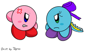 Kirby and Cara arguing who is the better puffball by piplup40