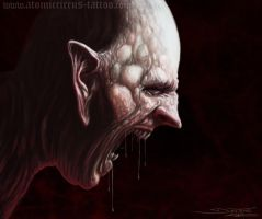 Demon face by AtomiccircuS