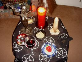 pagan alter satyr ritual by Estruda