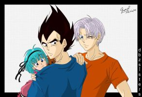 Capsule Corp Saiyans by dbzsisters