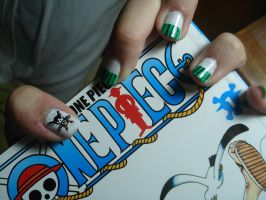 Zoro Nails - One Piece by Camilicks