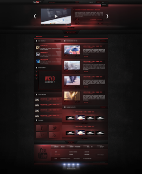 Youtube Redesign - Fun project. by Crelcreation