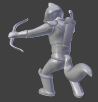 Raccoon Archer Model 2 by SenseiRedPanda