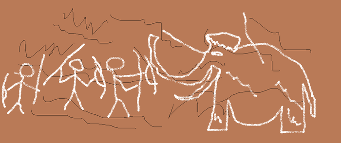Cave drawing my brother made by WolfieAnimeGirl