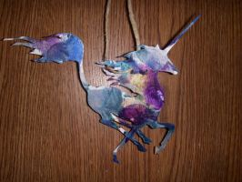 Recycled Crayon Unicorn by TerraTerror