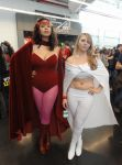 NYCC2013 Scarlet Witch and Emma Frost by zer0guard