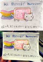 Nyan Cat Postcard by Shattered-Earth
