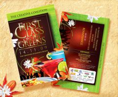 FirstClassOnTheGreens_Flyer by innografiks