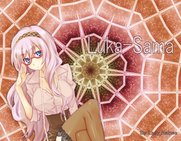 Wallpaper Luka-Sama Vocaloid03 by LadyNaipes