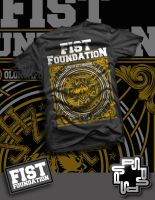 Fist Foundation tee design by 895graphics