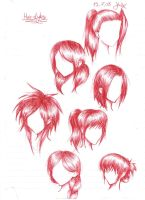 Hair Styles doodles by OpaliChan