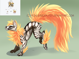 Pokemon Fusion: Cunine by picklesquidly101