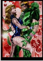 Green Arrow and Black Canary by StevenVnDoom