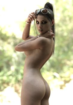 Rebeca naked in forest by BestmanPi