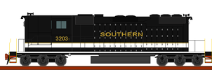 Southern 3203 drawing by belzelga1
