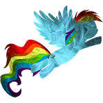 Composed Rainbow Dash Fractal (Version 3.0) by uxyd