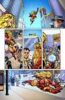 UltraVixen Issue #1 Page 14 color by MaelstromMediaComics